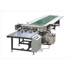 China WM-650C Manual Feeding Gluing Machine with Convoyer Belt / Gluing Machine factory