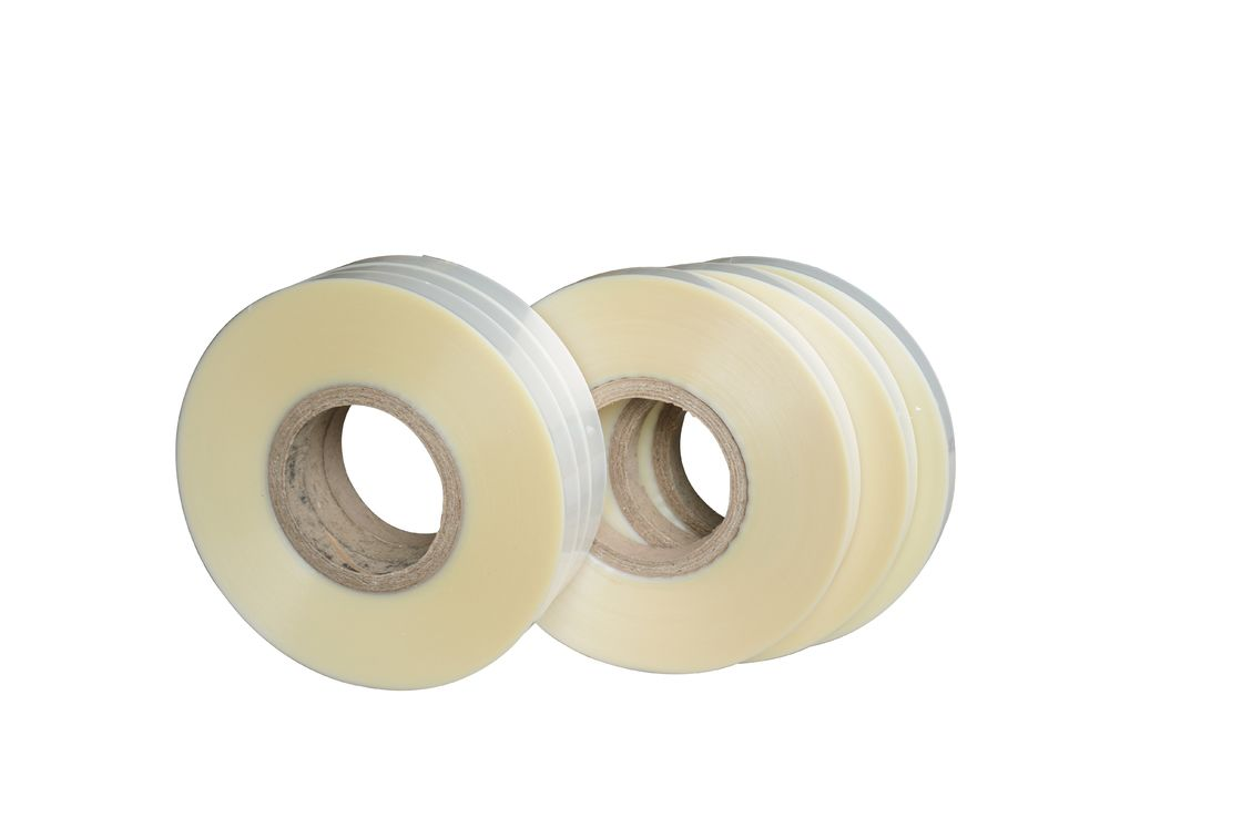 Plastic Hot Melt Tape For Automatic Four Corner Pasting Machine / Hot Tape Pasting Box Corner