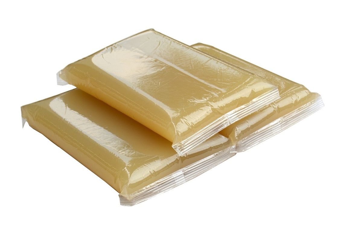Hot Melt Jelly Glue Light Amber Color For Hardcover Book / Rigid Box supplier