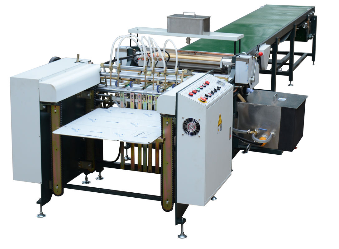 Paper Gluing Automatic Gluing Machine White Color For Book Cover supplier