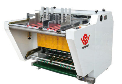PLC Control Notching Automatic / Grooving Machine For Shoe Boxes