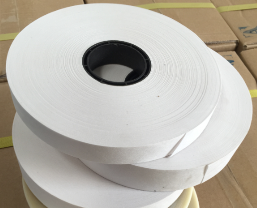 TS2 - 19  White Color 19mm Width Kraft Paper Tape For Corner Pasting Machine